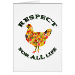 Respect for ALL life - vegetarian fowl Greeting Card