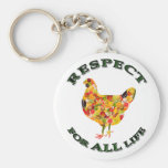 Respect for ALL life - vegetarian fowl Key Chain