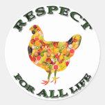 Respect for ALL life - vegetarian fowl Sticker