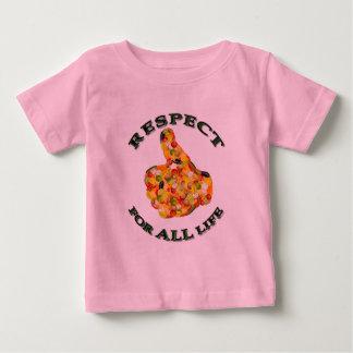 Respect for ALL life - vegetarian logo Baby T-Shirt