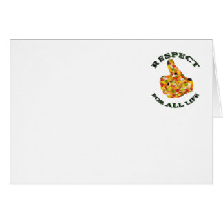 Respect for ALL life - vegetarian logo Greeting Card