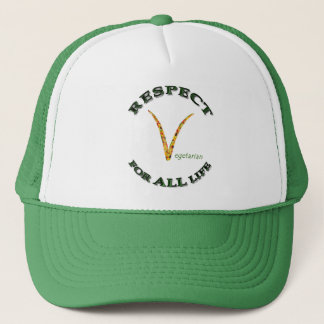 Respect for ALL life - vegetarian logo Trucker Hat