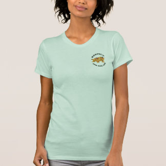 Respect for ALL life - vegetarian pig T Shirt