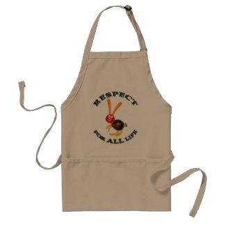 Respect for ALL life - vegetarian rabbit Aprons