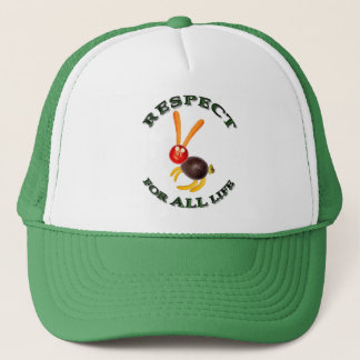 Respect for ALL life - vegetarian rabbit Trucker Hat
