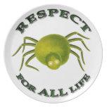 Respect for ALL life - vegetarian spider Dinner Plate