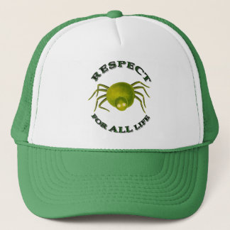 Respect for ALL life - vegetarian spider Trucker Hat