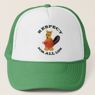 Respect for ALL life - vegetarian squirrel Trucker Hat