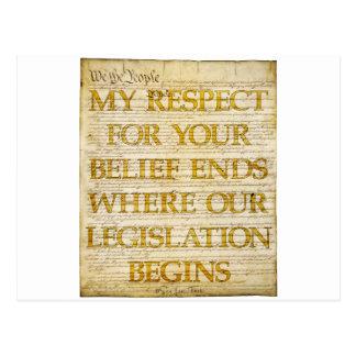 Respect For Beliefs Postcard