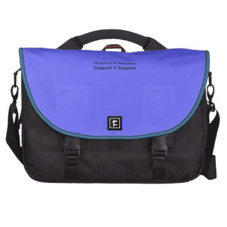 Respect for Respect Support for Support Laptop Commuter Bag