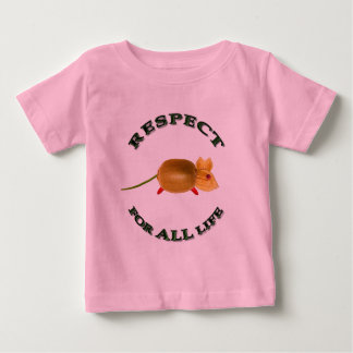 Respect for UNIVERSE life - vegetarian mouse Baby T-Shirt