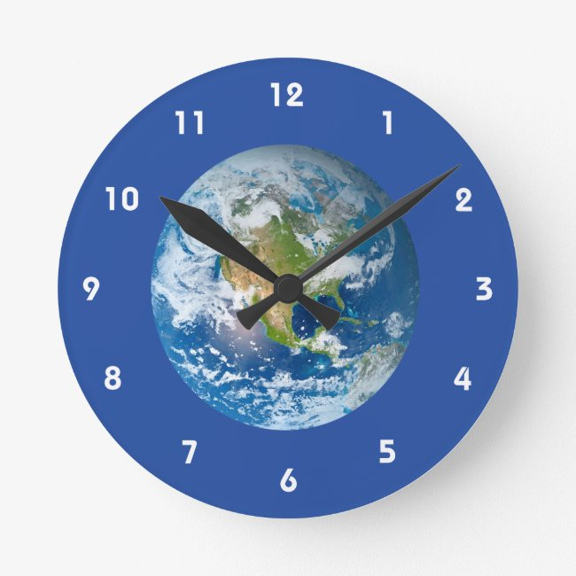 Respect Future Planet Earth Clock