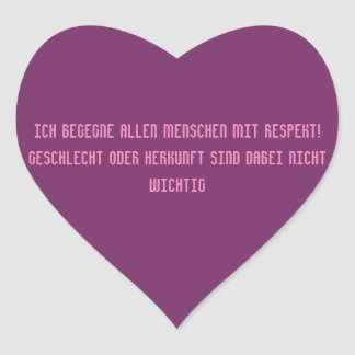 Respect - german text heart sticker