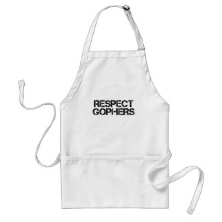 Respect Gophers Adult Apron