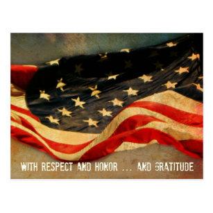 Respect, Honor and Gratitude Veterans Day Postcard