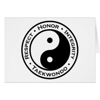 Respect Honor Integrity Taekwondo Card