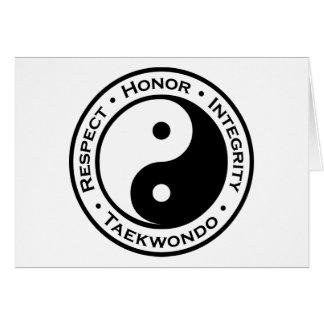 Respect Honor Integrity Taekwondo Greeting Card