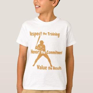 Respect-Honor-Value Baseball T-Shirt