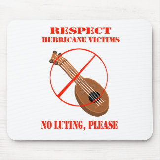 Respect Hurricane Victims. No luting, please. Mouse Pad