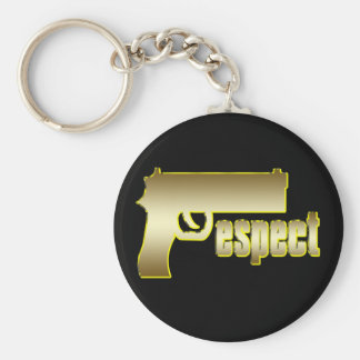 Respect in Gold Keychain