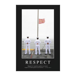 Respect: Inspirational Quote 1 Canvas Print