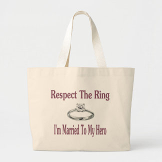 respect large tote bag