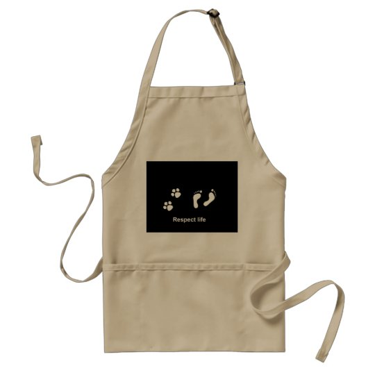 Respect life adult apron