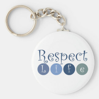 Respect Life Circle Basic Round Button Keychain