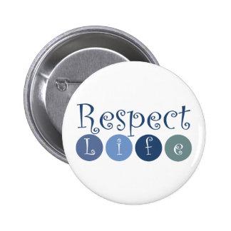 Respect Life Circle Button