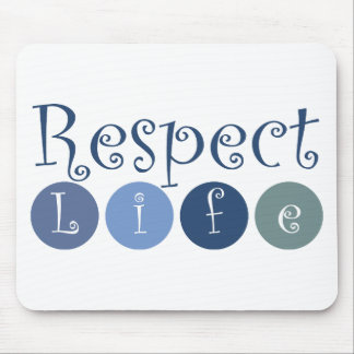 Respect Life Circle Mouse Pad