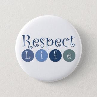 Respect Life Circle Pinback Button