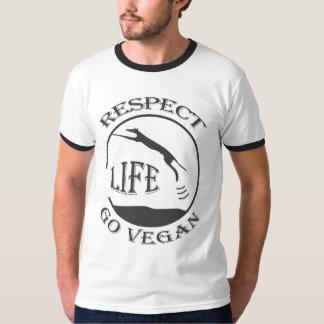 RESPECT LIFE - GO VEGAN - 01m T-Shirt