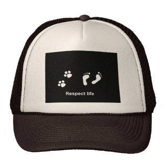 Respect life trucker hat
