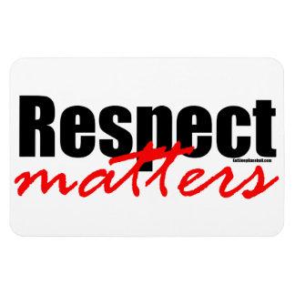 Respect Matters Rectangular Photo Magnet