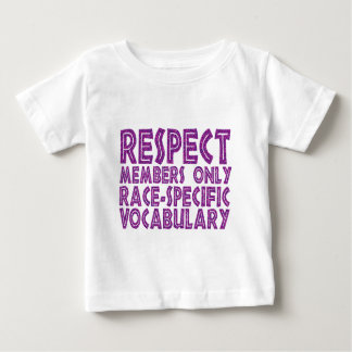 respect members only race specific vocabulary shirts