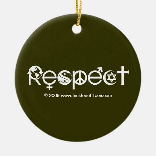 Respect Mother Earth Christmas Tree Ornament