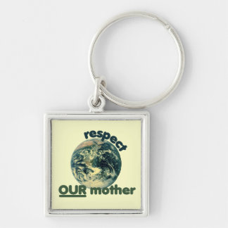 Respect mother earth keychain