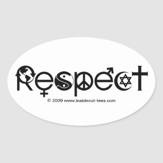 Respect Mother Earth - Recycle Save The Planet Oval Sticker