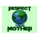 Respect Mother Eath Postcard
