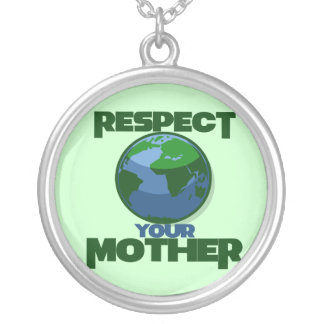 Respect Mother Eath Silver Plated Necklace
