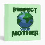 Respect Mother Eath Vinyl Binders