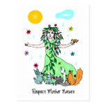Respect Mother Nature Postcard