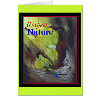 Respect Nature - Black-hooded Parakeet Card