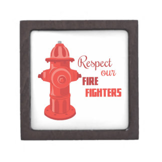 Respect Our Fire Fighters Premium Jewelry Box
