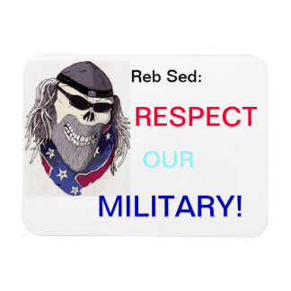 RESPECT OUR MILITARY RECTANGULAR PHOTO MAGNET