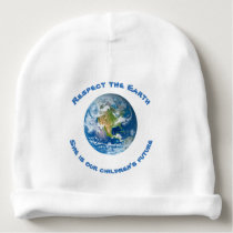 Respect Planet Earth Baby Beanie