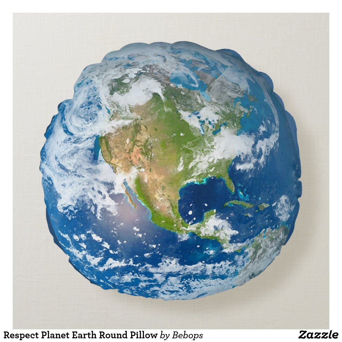 Respect Planet Earth Round Pillow
