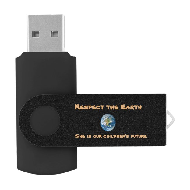 Respect Planet Earth USB Flash Drive