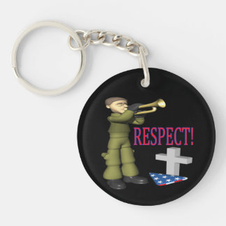 Respect png acrylic key chain