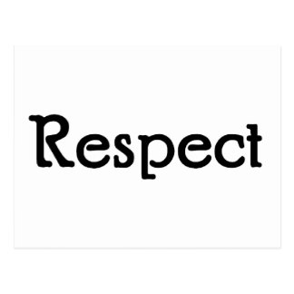Respect Postcard